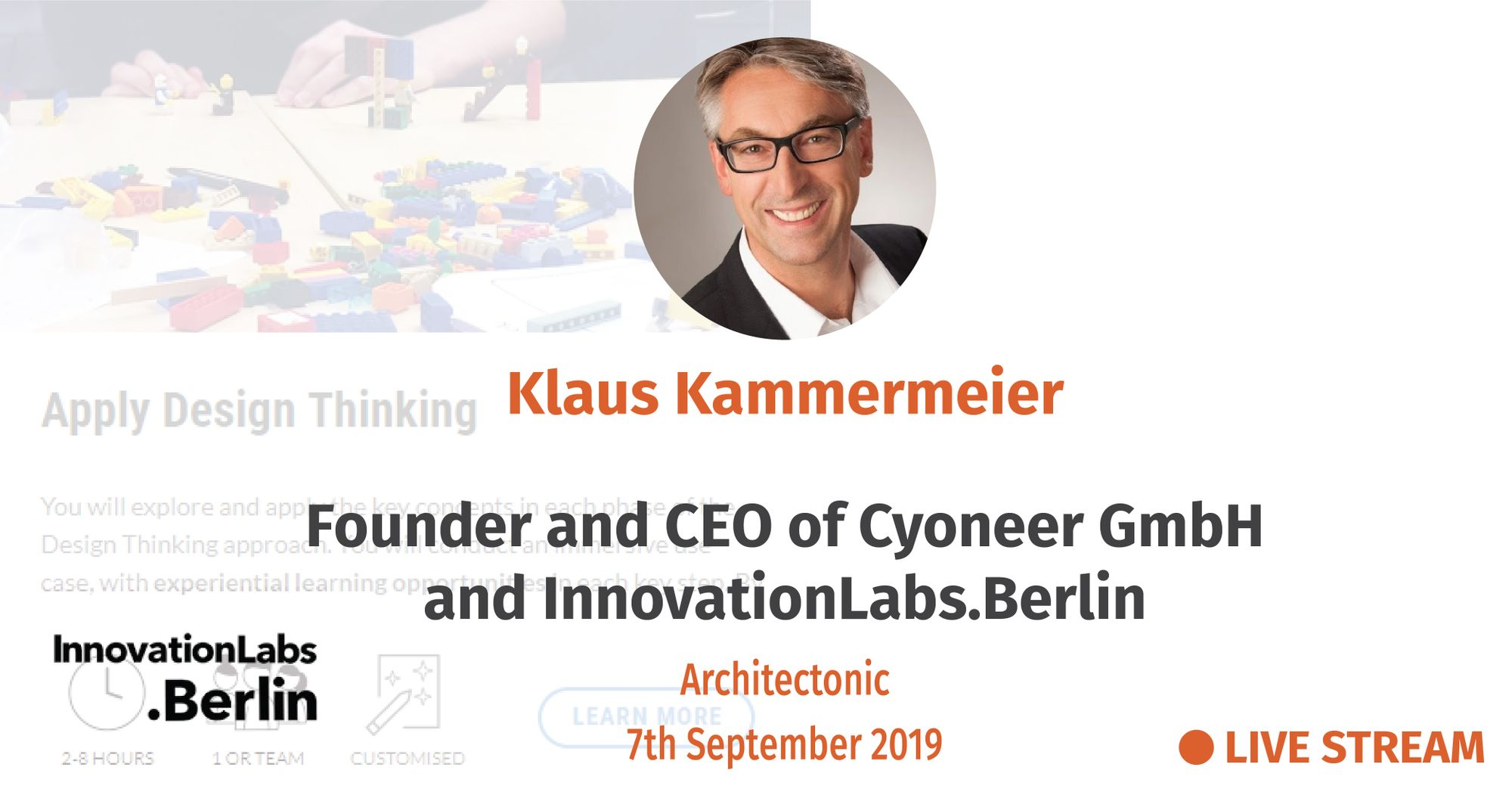 Innovation, or 'how only thousands of hours of hard work enable true moments of innovation and positive change' - Klaus Kammermeier