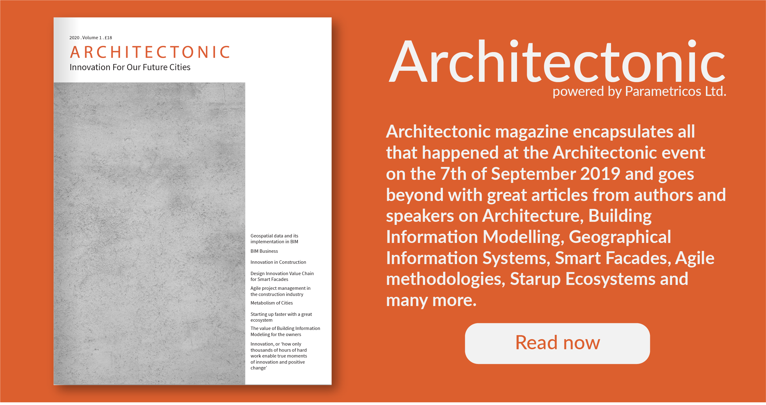 Architectonic Magazine is now available. Get your own edition at Architectonic